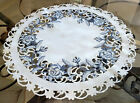 Doily Dutch Delft 23 inch Table Table topper Dresser Scarf Blue White