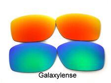 Galaxie Verres De Rechange Pour Oakley Jupiter Squared Vert/Rouge polarisé