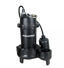 AquaPro 40011-3 1/2 HP Submersible Effluent Pump Piggyback Tether Float Switch