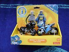 IMAGINEXT DC SUPER FRIENDS GOTHAM CITY COLLECTION BATMAN & CATWOMAN  WITH CYCLES