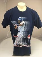 VTG 90s Salem MLB Cleveland Indians Albert Belle navy blue baseball tshirt XL