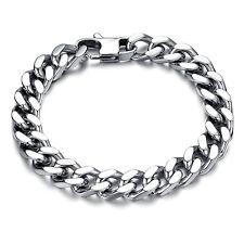 Edelstahl Panzerarmband Herren Armband Silber Armkette Armreif Massiv Schmuck