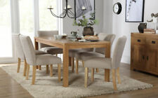 Oak Up to 6 Unbranded Kitchen & Dining Tables with Flat Pack