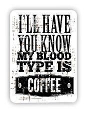 Type sanguin est café cuisine affiche métal signe plaque rétro vintage poster
