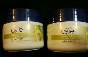 2 X Avon Care Replenishing Moisture With Avocado Facial Cream - 100ml