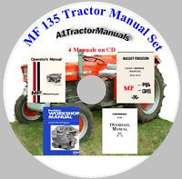 Massey Ferguson MF 135 MF135 Tractor Service, Shop, Engine Manual -4- Manuals CD