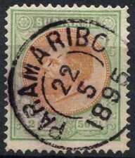 Surinam 1873-79 SG#13, 2.5g Orange-Brown & Green Used #D86584