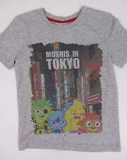 NEW  M&S Moshi monsters print  boys T shirt top  7 y  grey cotton