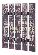 HAKU Wandgarderobe mit Schriftzug In Vintage OPTIK 89918