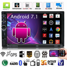 """Quad Core Android 7.1 WIFI 7"""" Double 2DIN Car Radio MP5 MP3 Player GPS Bluetooth"""