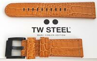 TW STEEL Uhrenband Uhrenarmband Ersatzband 22 mm NEU LEDER Kroko-Optik BRAUN 2