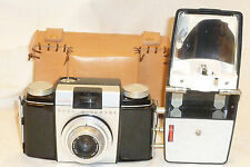 VINTAGE KODAK PONY II  CAMERA w/ FLASH, Custom made CASE