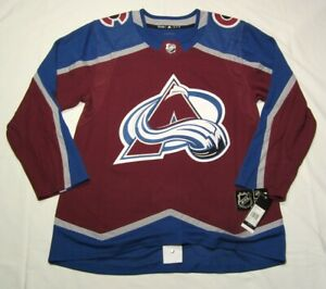 COLORADO AVALANCHE size 52 = Large ADIDAS NHL Hockey Jersey aeroready authentic