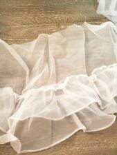 White Sheer Skirt Ruffle   12 inches wide     1 yard