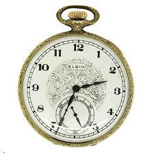 Face Pocket Watch circa 1922 Antique Vintage Elgin Grade 384 Open