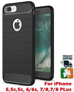 Brand NEW Rugged Case Cover For iPhone 6/7/8/X/11/12/Pro/Max Carbon Fibre Design