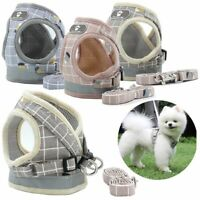 Mesh Padded Soft Puppy Pet Dog Harness Breathable Comfortable with Leash 5 Sizes