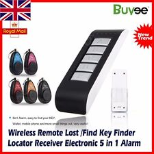 Remote Wireless Key Wallet LOST Locator Finder Receiver Electronic 5in1 Alarm UK
