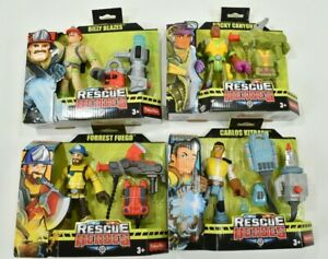 Rescue Heroes Action Figures Lot Billy Blazes Forrest Fuego Carlos Kitbash Rocky
