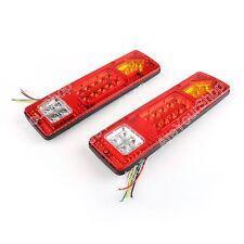 2X19 LED Trailer Truck RV ATV Turn Signal Running Tail Light #S White-Amber-Red.