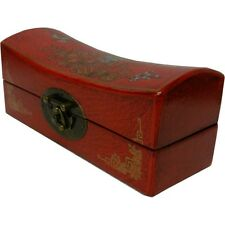 Chinese Red Hand Painted Classical Jewelry Box (PS-M8R)