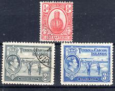 Turks and Caicos 3 items 1 x mm 2 x fu mmint [T3811]