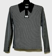 D&G STRIPED Vintage Collared Top