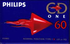 1 x Philips CD One 60 Type I - Audiocassette NEU/OVP Blank Tape rare new