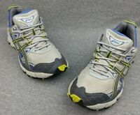 Asics Gel Kahana Womens Trail Running Shoes Sneakers Gray/Lime/Purple TiE6N Sz 9