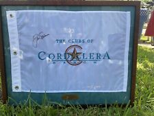 Jack Nicklaus Signed Flag Framed, The Clubs Of Cordillera Ranch 2005.
