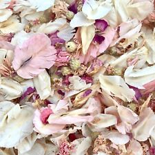 PINK IVORY Real Throwing Wedding Petal Confetti 1 litre Dried, Biodegradable