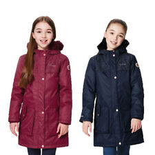Regatta Halimah Girls Kids Waterproof Breathable Parka Jacket Navy 15-16