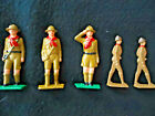 """1930S-40S """"BOY SCOUTS"""" LEAD SOLDIERS - MANOIL/BARCLAY? EXCELLENT COND. EXC C"""