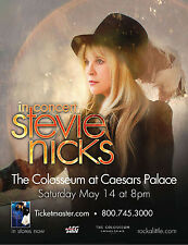 STEVIE NICKS 2011 LAS VEGAS CONCERT POSTER -Stevie Wearing Tophat, Fleetwood Mac
