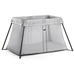 BabyBjorn Travel Crib Light - Silver 040248US - For Newborn to approx. 3 Years