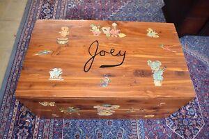 Antique Solid Cedar Child's Toybox, Cowboy Chest Western Trunk, Joey