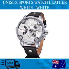 Watch Genuine Leather White - White Unisex Quartz Weide Sports  30m Waterproof