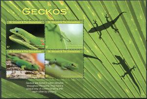 St Vincent & Grenadines Reptiles Stamps 2017 MNH Geckos Gecko Lizards 4v M/S I