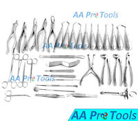 New 35 Pcs. Oral Surgery Dental Extraction Set Dentist Instruments AA-161
