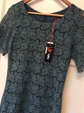 Yumi Size 12 Dress Teal Blue Lace New + Tags
