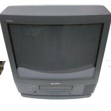 "Sony Trinitron 20"" KV-20VM42 CRT Color TV w/ Remote Retro Gaming Excellent Color"