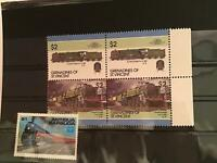 Grenadines of St Vincent Train mint never hinged block stamps  R21766