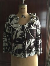 MOSCHINO  Womens 6 SEXY RUFFLES Floral  LINEN Jacket Blazer EUC!