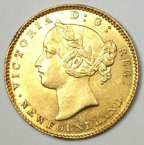 1885 Canada Newfoundland Gold Victoria $2 Coin - Uncirculated Details (UNC MS)