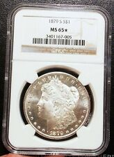 1879-S NGC MS65 Star Gorgeous PL Obverse Morgan Dollar Blazing White GEM BU PQ
