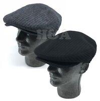 100% Wool Premium Newsboy Ivy Snap Bill Cabbie Golf Dress Warm Knit Flat Cap Hat