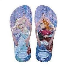 Havaianas Girls Slim Frozen White/Lavender Flip Flops Summer Shoes
