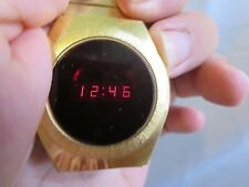 Vintage Rare Timex Red LED Digital Wristwatch H Cells 202 1970's RP25