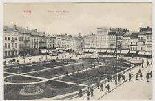 Belgium postcard - Anvers, Place de la Gare - Advert on back for Kavalier