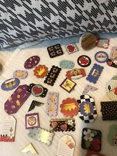 Scrapbook Craft Lot Of Over 40 Stickers Embellishments Card Charms